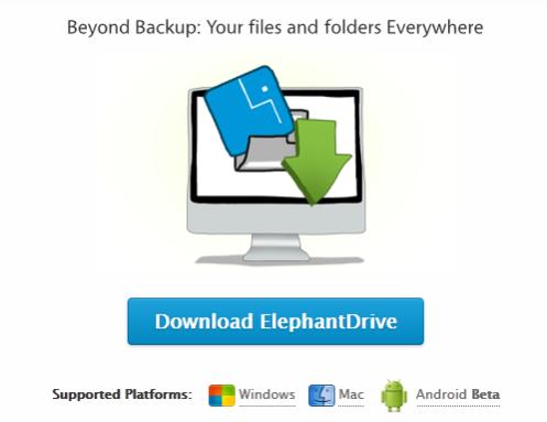 ElephantDrive Download Window