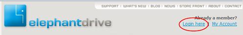 Web ElephantDrive Login