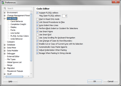 Code Editor SQL Developer